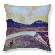 At Sunset, We Ride Throw Pillow