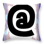 At Symbol Throw Pillow