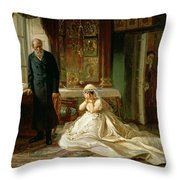 At The Altar Throw Pillow by Firs Sergeevich Zhuravlev