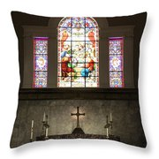At The Altar In Church Of The Presidents Throw Pillow