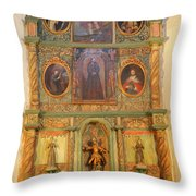 At The Alter San Miguel Mission Santa Fe New Mexico Throw Pillow