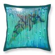 At The Aquarium Throw Pillow
