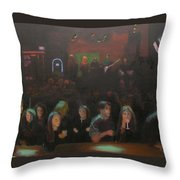 At The Bar Throw Pillow