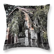 At The Barn Throw Pillow