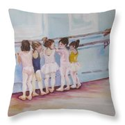 At The Barre Throw Pillow