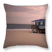 At The Beach Throw Pillow
