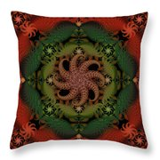 At The Bottom Of The Sea Coral Throw Pillow