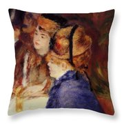 At The Cafe 1877 Throw Pillow