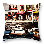 At The Cafe Throw Pillow