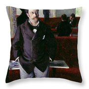 At The Cafe Rouen Throw Pillow