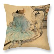 At The Circus Entering The Ring 1899 Throw Pillow