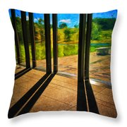 At The Clark II Throw Pillow