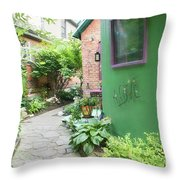 At The Corner Of Summer And Love Throw Pillow