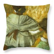 At The Couturier, The Fitting Throw Pillow