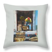 At The Crab Feast Throw Pillow