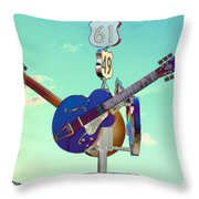 At The Crossroads Throw Pillow
