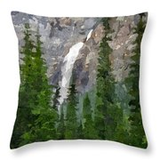At The Edge Of The Falls Throw Pillow