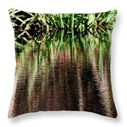 At The Edge Of The Pond Throw Pillow