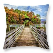 At The End Of The Dock Throw Pillow