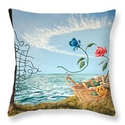 At The End Of The Fence I Am Free Throw Pillow