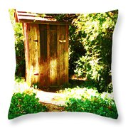 At The End Of The Path Throw Pillow