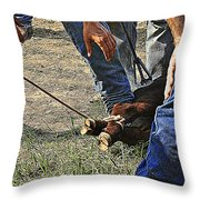 At The End Of The Rope Throw Pillow