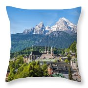 At The Foot Of The Watzmann Throw Pillow
