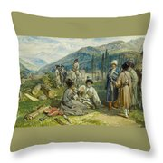 at the Fort of Waia Throw Pillow
