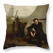 At The Front Throw Pillow by George Cochran Lambdin