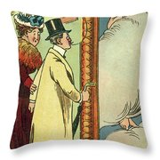 At The Gallery Throw Pillow