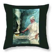 At The Griddle Throw Pillow