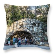 At The Grotto Throw Pillow