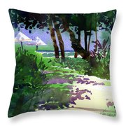At The Hale Koa Throw Pillow