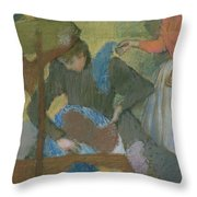 At The Hat Maker Throw Pillow