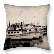 At The Marina - Jersey Shore Throw Pillow
