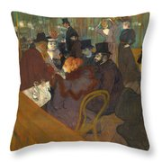 At The Moulin Rouge 1892 95 Throw Pillow