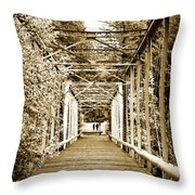 At The Other End Of The Old Bridge Throw Pillow