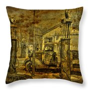 At The Pumps No.7009a1 Throw Pillow