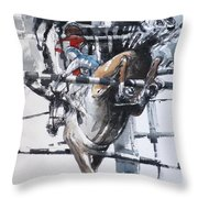 At The Races 5 Throw Pillow