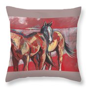 At The Races Throw Pillow