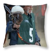 At The Racetrack 5 Throw Pillow
