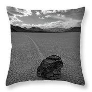 At The Racetrack Throw Pillow