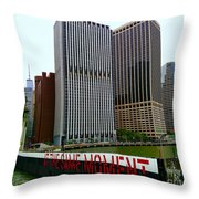 At The Same Moment Throw Pillow