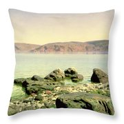 At The Sea Of Galilee Throw Pillow