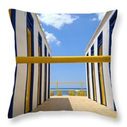 At The Seashore 1 Throw Pillow