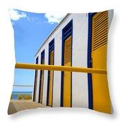 At The Seashore 3 Throw Pillow