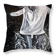 At The Shore  Throw Pillow