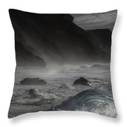 At The Sight Of The Wave Throw Pillow