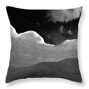 At The Slopes Throw Pillow