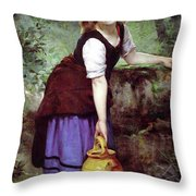 At The Spring Throw Pillow